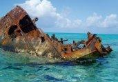 图揭奇异的沉船残骸