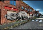 比利时鬼镇现墙体涂鸦