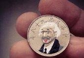 硬币上的头像 太萌了太有趣了