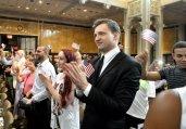150名美国新移民在纽约参加公民入籍仪式