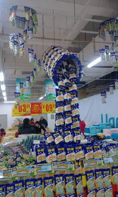 超市大妈都是艺术天才啊
