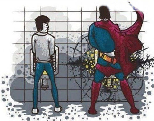 超人小便的威力