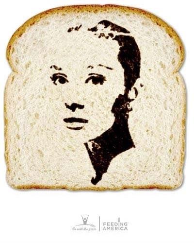 面包片上的外国明星