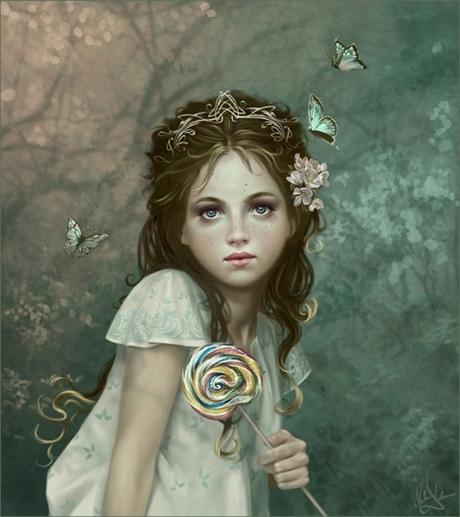 小女孩与棒棒糖