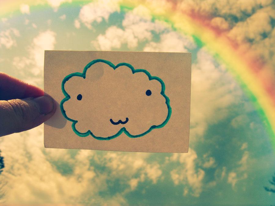 白云与彩虹