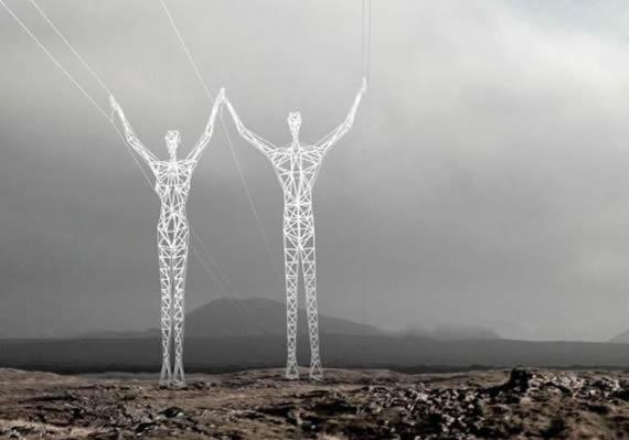 人形电线杆