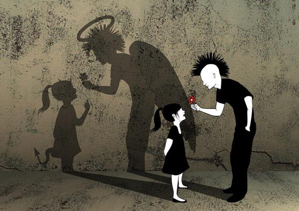天使给与,恶魔贪婪,灵魂在不为人知的深处。