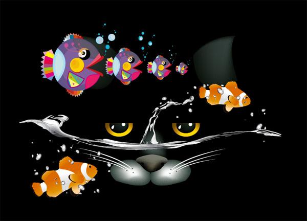 猫和鱼的完美结合