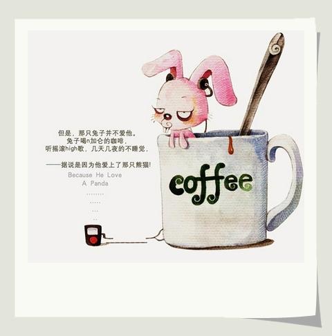 但是,那只兔子並不愛他。兔子喝n加侖的咖啡,聽搖滾High歌,幾天幾夜地不睡覺。