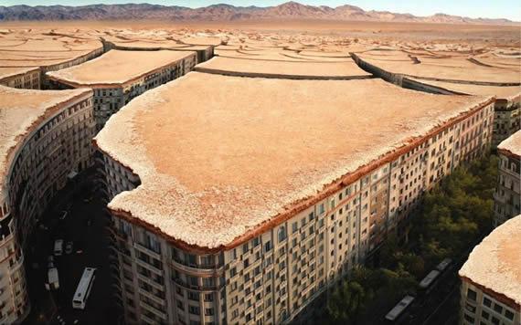 创意图片-干涸的城市