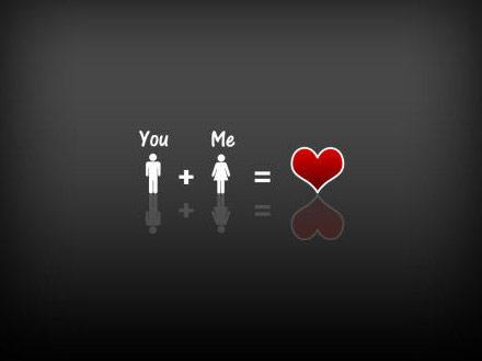 你加我=爱心